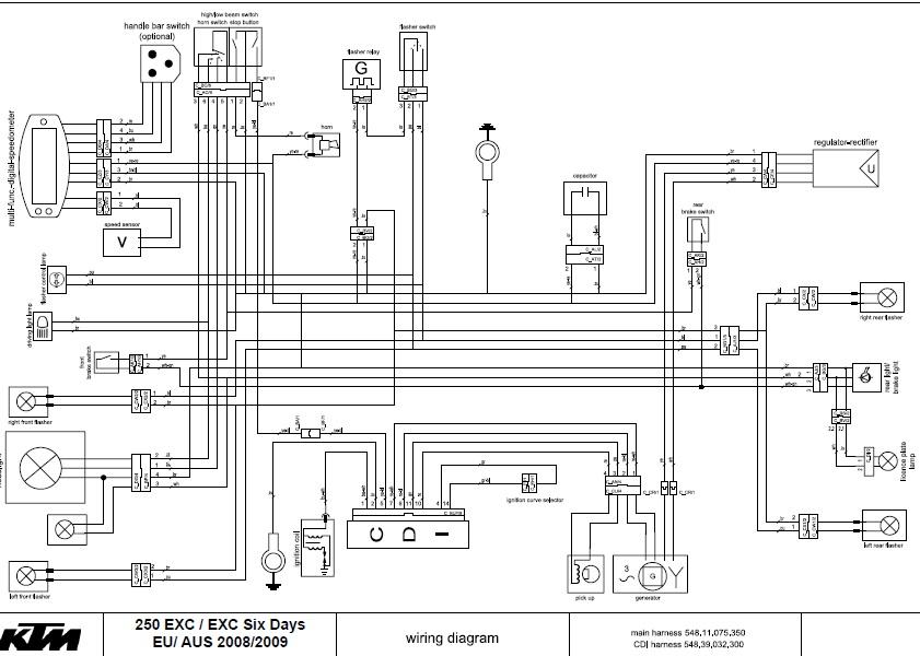 Schema Elettrico Ktm Exc 125 : Schema elettrico ktm exc help cherche référence d une